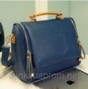 Модная женская сумочка через плечо синего цвета