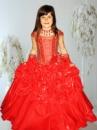 Прокат платья «Букли» красное на выпуск в детский сад.