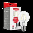 LED лампа MAXUS (филамент), А60, 8W, мягкий свет,E27 (1-LED-565)