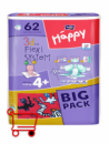 Подгузники Bella Happy Maxi 4+ BIG PACK 62 шт