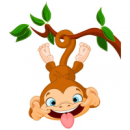 Наклейка Детская Funny Monkey