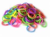 Разноцветные пузырчатые круглые резинки для плетения Rainbow loom