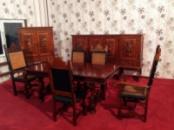 Антикварная столовая (стол, стулья, комод, бар) «Испанский Ренессанс»