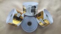 Формы для наращивания ногтей 500шт форм-наклейка широкие подложка