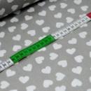 Ткань хлопковая «Сердечки на сером мелкие» Арт 120
