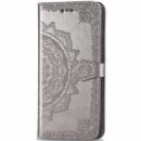 Кожаный чехол (книжка) Art Case с визитницей для Samsung Galaxy M20 Серый