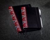 Блокнот с черной бумагой Вышиванка мини