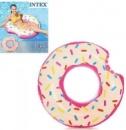 Детский надувной круг Intex 56265 Donut Tube Надкушенный пончик 1,07х99 см