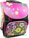 Рюкзак каркасный ортопедический школьный для девочки. Цветы