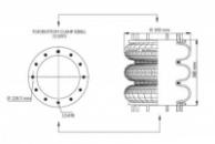 Пневморессора, бублик тройной в сборе (пр-во Airtech) D 300,12'X3 HYDRO SP2597 /AT,115005,42107595