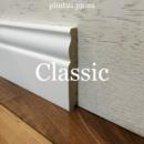 Високий білий плінтус МДФ Classic 10 см (16*100)