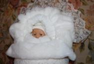 конверт на выписку для новорожденных зима