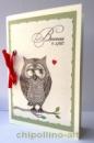 Открытка для любимого влюбленная сова