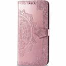 Кожаный чехол (книжка) Art Case с визитницей для Samsung Galaxy M20 Розовый