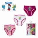 Трусики детские для девочек набор 3 шт. «Смурфики», бренд «The Smurfs»