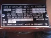 Дублирующие таблички (шильды) на авто MERCEDES любой модели и кузова