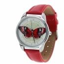 Часы наручные «Эффект бабочки» красный