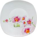 Тарелка столовая мелкая «Орхидея» квадратная 19см