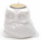 Фигурка фарфоровая с подсвечником «Сова» 10см со свечей