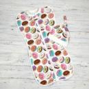 Трикотажная пеленка кокон на молнии «Пироженки»