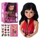 Кукла Falca 71213 голова для причесок, 2 вида, аксессуары, 47-35-16 см