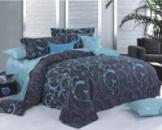 Комплект постельного белья Уютная Жизнь Семейный 200x220 Изумруд