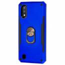 Ударопрочный чехол SG Ring Color магнитный держатель для Samsung Galaxy A01 Синий
