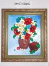 Картина «Полевые цветы» с малиной