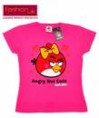 Футболка «Angry Birds» (Энгри бердс) розовая для девочек, бренд «Fashion UK» (Англия)