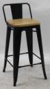 Барный стул Толикс Низкий Вуд, H-76см. (Tolix Low Wood, H-76cm.)