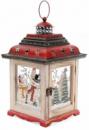 Новогодний фонарь-подсвечник «Снеговики» 21х21х34.5см, бежевый