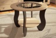 Журнальный стол №1 с круглым стеклом