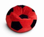 Красно-черное кресло-мяч из велюра