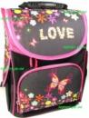 Рюкзак каркасный ортопедический школьный для девочки. Love