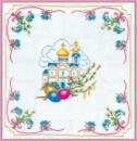 Пасхальная салфетка канва с нанесенным рисунком (рисунок смываемый)