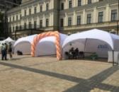 Аренда палатки «PARK 4х4» цвет белый, С комплектом штор - Киев
