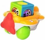 Fisher-Price Roller Blocks Airplane, развивающий самолетик для малышей