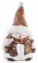 Новогодняя декоративная статуэтка «Снеговик» 16.5см
