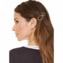 Заколка для волос «Знак бесконечности», золото, 1 шт