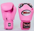 Перчатки для тайского бокса(кожа) TWINS FBGV-25-PN розовые(оригинал)