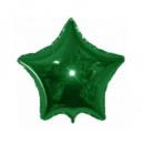 Фольгированный шар звезда мини зеленая 9'' 23 см