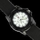 Военные, тактические Gemius ARMY черные часы, белый цыферблат