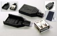 USB разъем «мама» из трех частей, для солнечных зарядных устройств.