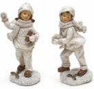 Статуэтка декоративная «Детки на снегу» 14.5см