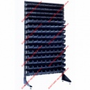 Стеллажи складские под радиодетали и ящики пластиковые 135 шт