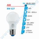 Лампа E27 8W, 4000К, А60 Right hausen