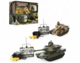 Танковый бой р/у, аккум,танк2шт(28см),звук,свет,солдаты2шт,в кор-ке,59,5-38-15,5см