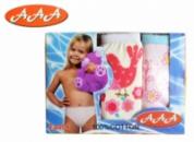 Трусики детские для девочек набор 3 шт. «Сказки», бренд «ААА» (Венгрия)