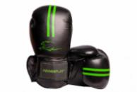 Боксерські рукавиці PowerPlay 3016 Чорно-Зелені 8 унцій
