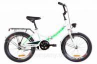 Велосипед 20« Formula SMART 14G St с багажником зад St, с крылом St, с фонарём 2019 (бело-зеленый )